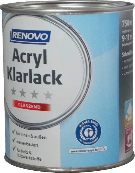 750ml Renovo Acryl Klarlack glänzend