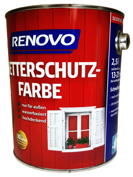 750ml Renovo Wetterschutzfarbe Nr.1015 hellelfenbe