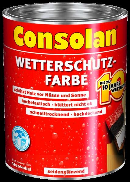 750ml Consolan Wetterschutzfarbe moosgrün