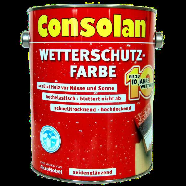2,5 Liter Consolan Wetterschutzfarbe schwedenrot
