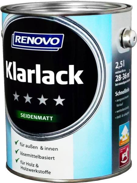 2,5L Renovo Klarlack Seidenmatt aromatenfrei