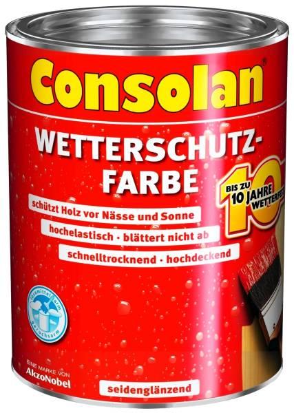 750ml Consolan Wetterschutzfarbe schwedenrot