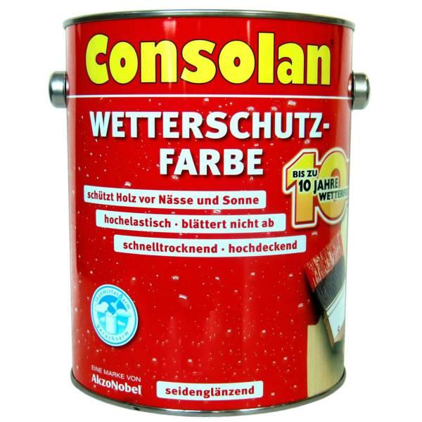2x 2,5L Consolan Wetterschutzfarbe weiss