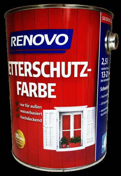 2,5 L Renovo Wetterschutzfarbe 3103 schwedenrot