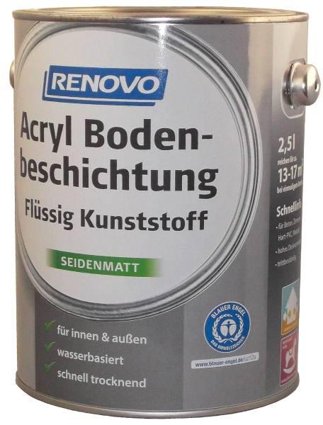 2,5L Renovo Acryl - Bodenbeschichtung kieselgrau