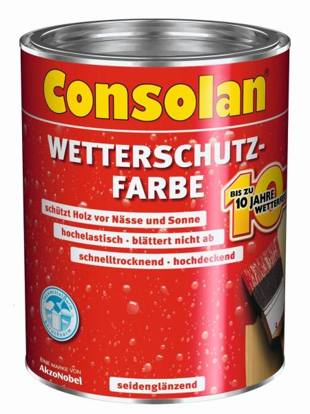 2,5 Liter Consolan Wetterschutzfarbe rot