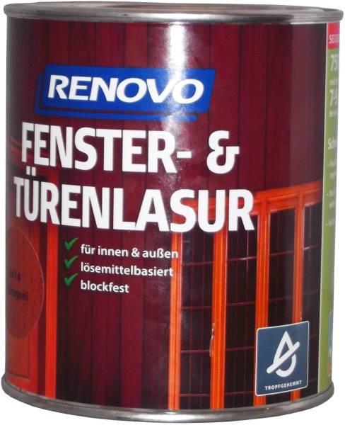 750ml Renovo Fenster&Türenlasur Nr.9410 ebenholz