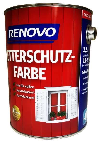 2,5 Liter Renovo Wetterschutzfarbe Nr.0095 weiss