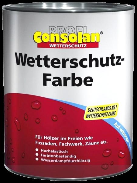 2,5L Profi Consolan Wetterschutzfarbe weiss