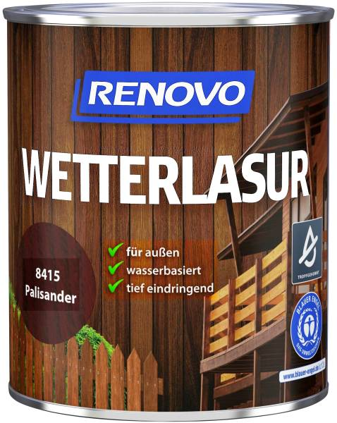 750ml Renovo Wetterlasur wb Nr.8415 Palisander