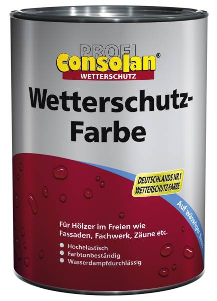 1L Consolan PROFI Wetterschutzfarbe in Wunschfarbe